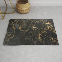 marble black and gold paper texture, marbled pattern, marble luxury, Rug