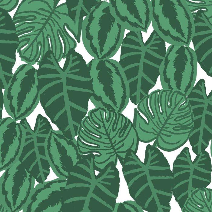 Botanical tropical pattern leaves painting watercolor free spirit boho modern pattern garden house Leggings