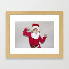 Little Man Santa Framed Art Print