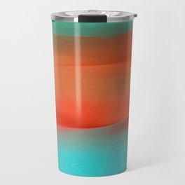 Dunes Collection - Blue, Peach, Green Travel Mug