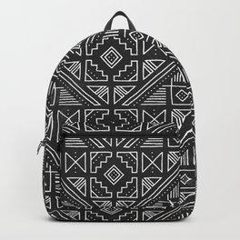 Stamped Geometric - Coal Backpack