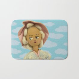 Girl With Clouds Bath Mat
