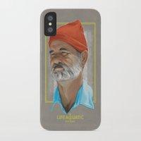 life aquatic iPhone & iPod Cases featuring Steve Zissou Life Aquatic  by Soren Barton
