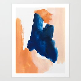 thursday afternoon: abstract painting Art Print