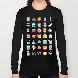 CUTE VET / VETERINARIAN PATTERN Long Sleeve T-shirt