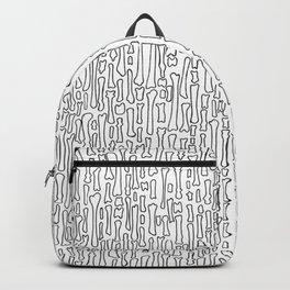Black and White Skeleton Bone Pattern Backpack