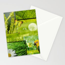 Lush Nature & Greenery Collage Stationery Cards