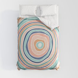 Rainbow (Infinite Loop) / Abstract Shapes Comforters