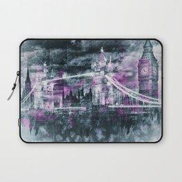 Modern-Art LONDON Tower Bridge & Big Ben Composing Laptop Sleeve