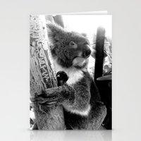 koala Stationery Cards featuring Koala by Alan Hogan