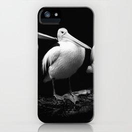 Pelican Trio black and white iPhone Case
