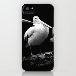 #Pelican #Trio #Black and #white iPhone Case