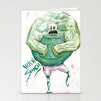 hulk Stationery Cards featuring Hulk by Crooked Octopus