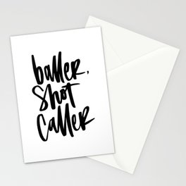 Baller, Shot Caller Hand Lettering Stationery Cards