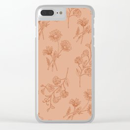 Vintage Daisy & Sweet Pea Clear iPhone Case