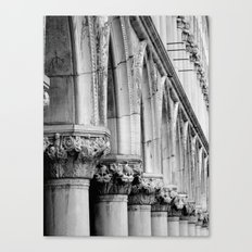 Doges Palace pillars and arches, Venice Canvas Print