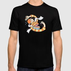 Put Yourself Back Together Again MEDIUM Mens Fitted Tee Black