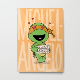 TMNT: Michelangelo (Cute & Dangerous) Metal Print