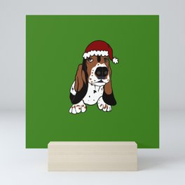 A Basset Full of Christmas Mini Art Print
