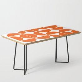 Mid Century Modern Geometric 04 Orange Coffee Table