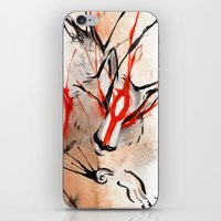 okami iPhone & iPod Skins featuring Okami Amaterasu Ink by Rubis Firenos