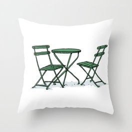 Chairs in Bryant Park Throw Pillow