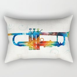 Colorful Trumpet Art Color Fusion By Sharon Cummings Rectangular Pillow