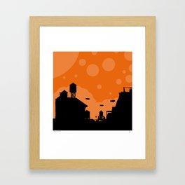 The Great Blimp Race Framed Art Print