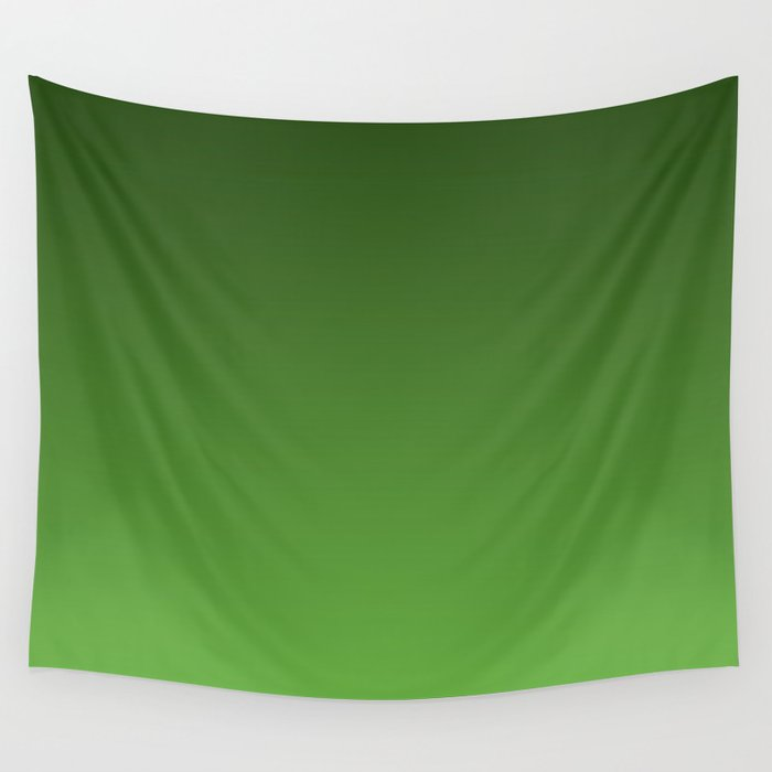 Green Ombré Gradient Wall Tapestry