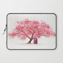 Tardis Tree Art Blossom Laptop Sleeve