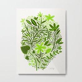 Garden – Lime Green Palette Metal Print