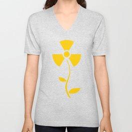 Radioactive flower Yellow design Unisex V-Neck