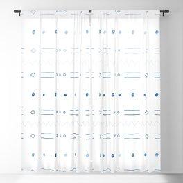 Dash n Dot Doodle in Blue Blackout Curtain