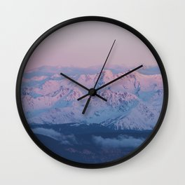 Perfect sunrise in South Tyrol - Landscape and Nature Photography Wall Clock