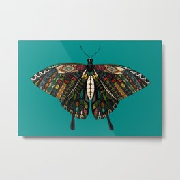 swallowtail butterfly teal Metal Print