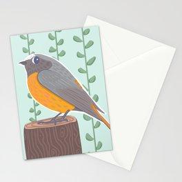 Redstart bird Stationery Cards