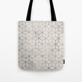 Marbled Copper Cubes Tote Bag
