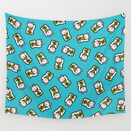 Lucky Cat Pattern Wall Tapestry