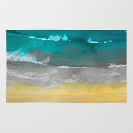 Watercolour Summer beach II Rug