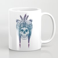 dead Mugs featuring Dead shaman by Balazs Solti