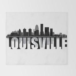 Louisville Silhouette Skyline Throw Blanket