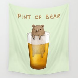 Pint of Bear Wall Tapestry