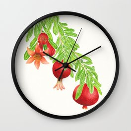 Pomegranate - Flower to Fruit Wall Clock