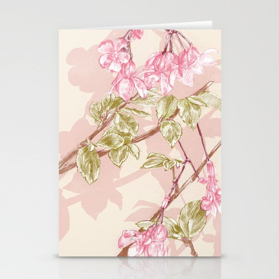 Flower Sketch Stationery Cards