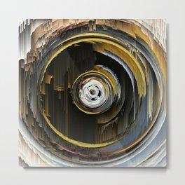 Target Rings: digital abstraction Metal Print