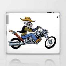 skull ride a big motorcycle Laptop & iPad Skin