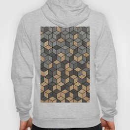 Concrete and Wood Cubes Hoody