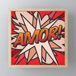 Comic Book AMOR! Framed Mini Art Print