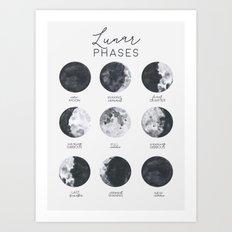Lunar Phases Art Print