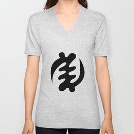 Gye Nyame Adinkra Symbol Unisex V-Neck
